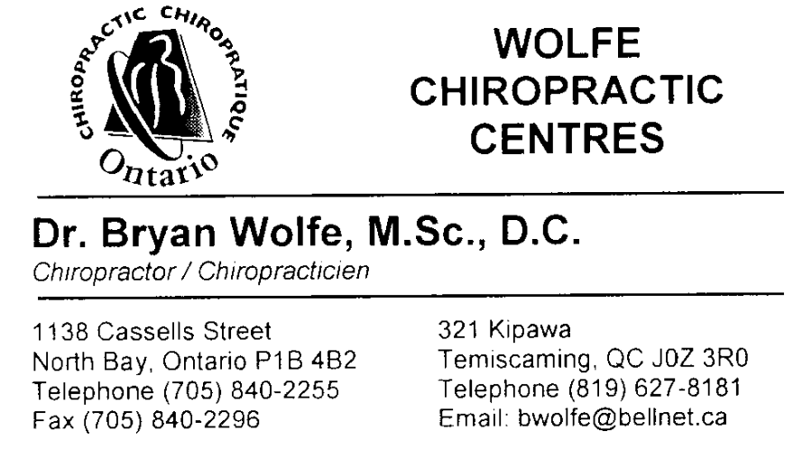 Wolfe Chiropractic Centres